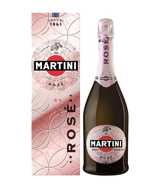 Rượu vang nổ Ý Martini Rose Demi-sec và hộp giấy