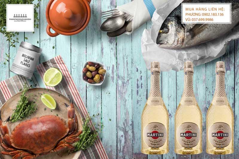 Rượu vang nổ Ý Special Collection Prosecco và bữa tiệc hải sản