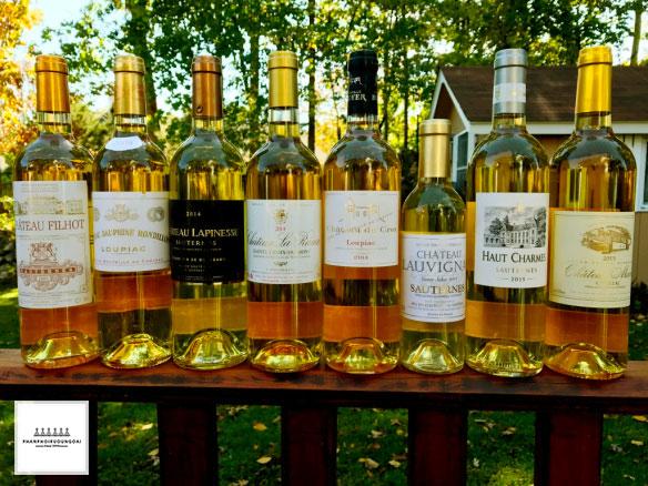 Các loại rượu vang ngọt Sauternais Pháp