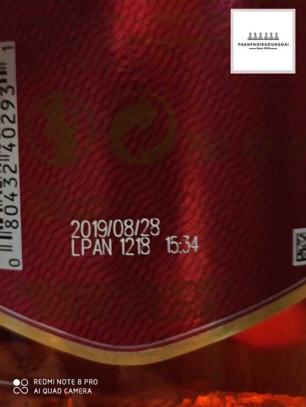 Mã code trên thân chai rượu Chivas 12