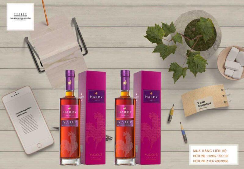 Rượu Cognac Hardy lịch lãm và sang trọng cho biếu tặng