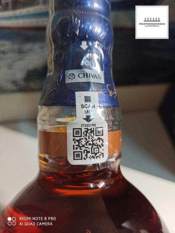 Tem cổ chai cho việc quét mã QR Code của Chivas 18
