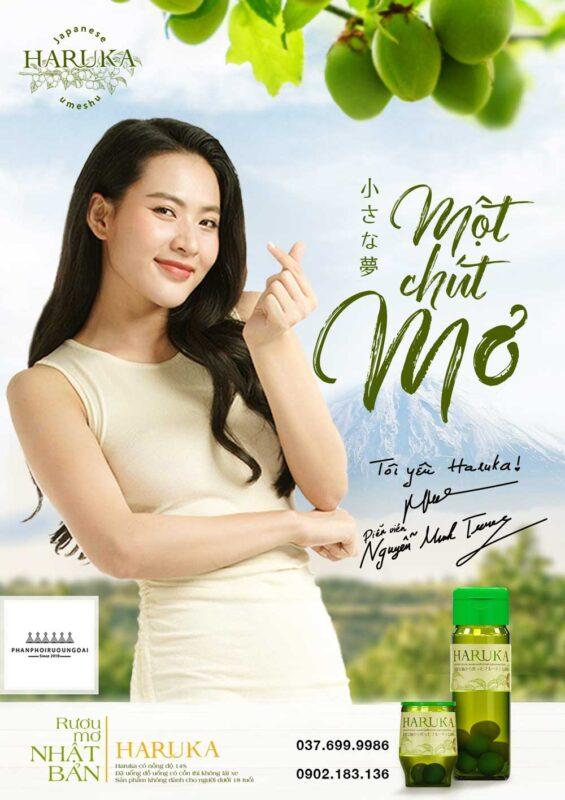 Rượu Mơ Haruka và diễn viên Thu Trang