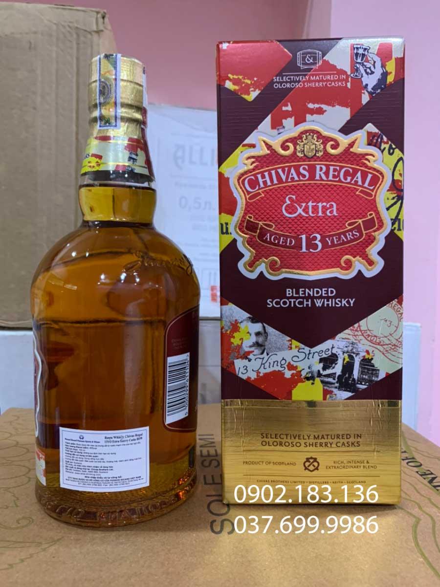 Rượu Chivas Extra 13 năm Sherry Cask và tem phụ của hãng PRVN