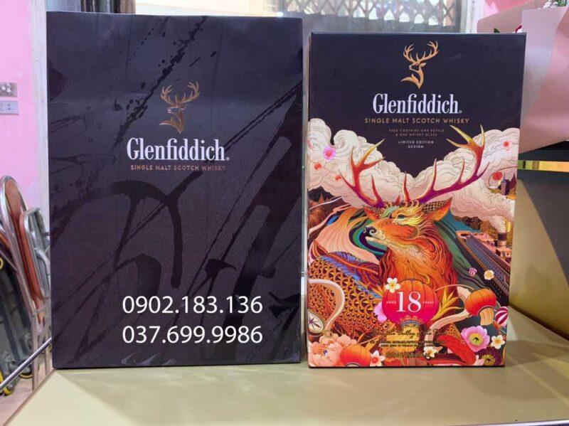 Ảnh thực tết của rượu Glenfiddich 18 năm hộp quà tết 2021