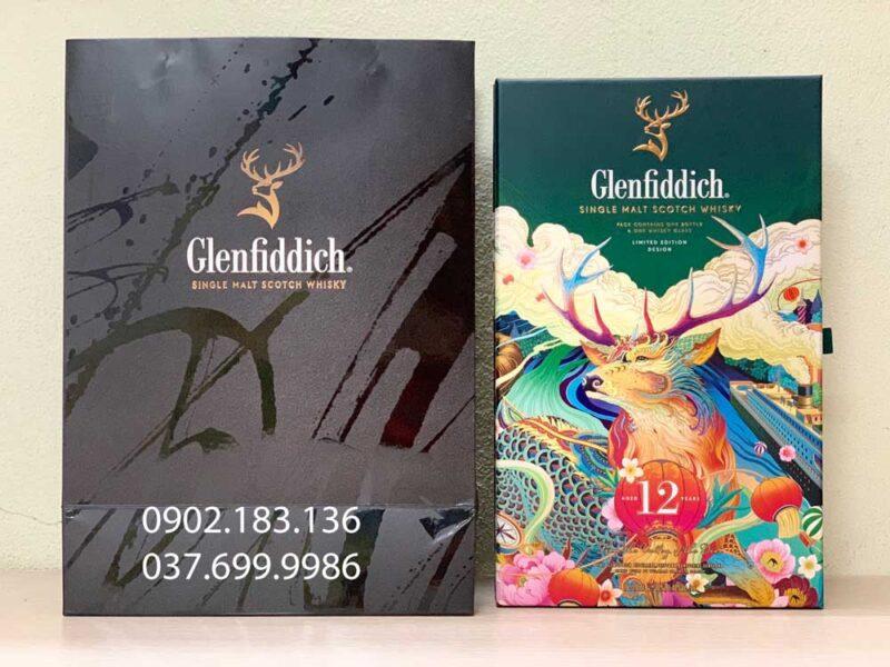 Ảnh thực tế của rượu Glenfiddich 12 năm hộp quà tết 2021 cho biếu tặng