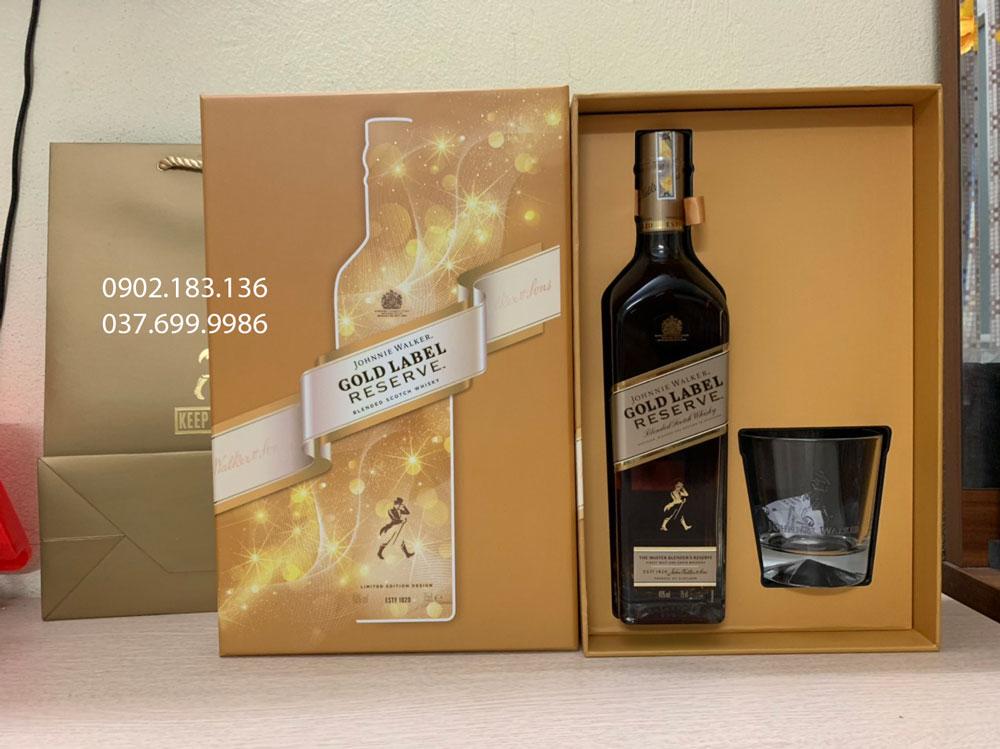 Ảnh thực tế của rượu Johnnie Walker Gold Label Reserve hộp quà tết 2021
