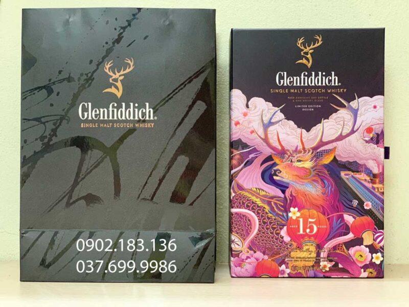 Ảnh thực tế rượu Glenfiddich 15 năm hộp quà tết 2021 cho biếu tặng