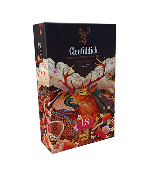 Ảnh thực tế rượu Glenfiddich 18 năm hộp quà tết 2021