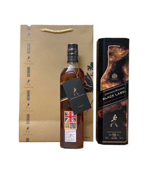 Ảnh thực tế rượu Johnnie Walker Black Label hộp quà tết 2021