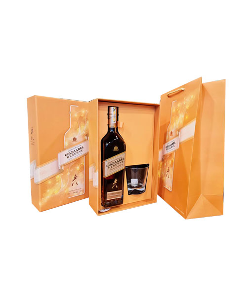 Ảnh thực tế rượu Johnnie Walker Gold Label hộp quà tết 2021