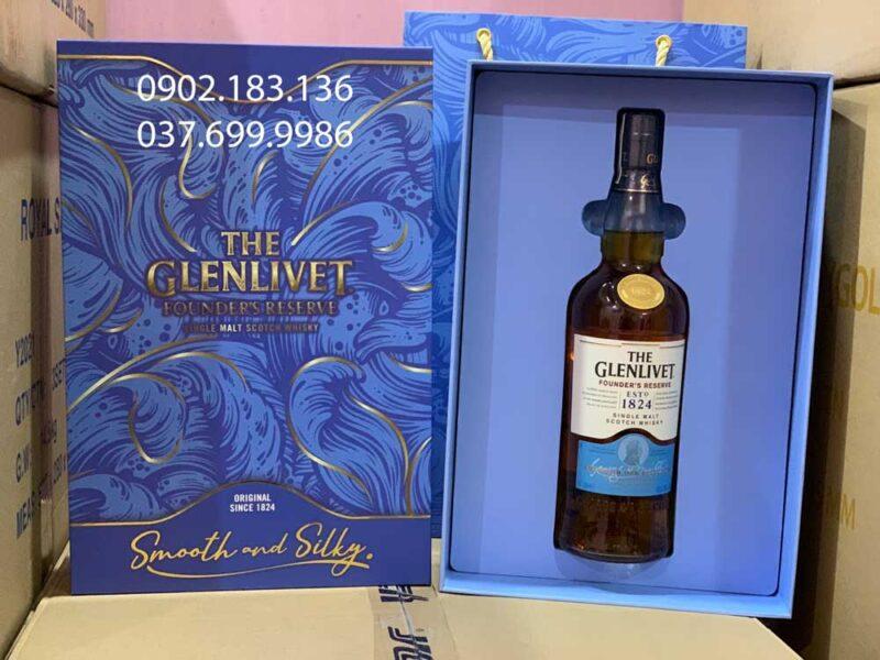 Ảnh thực tế của rượu The Glenlivet Founder's Reserve hộp quà tết 2021