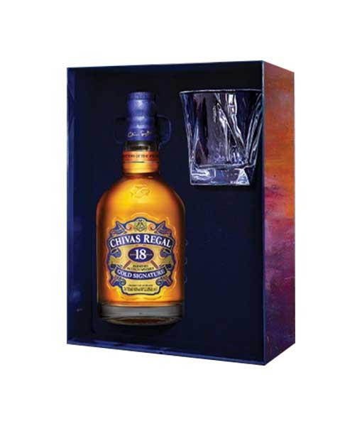 Bên trong hộp rượu Chivas 18 quà tết 2021