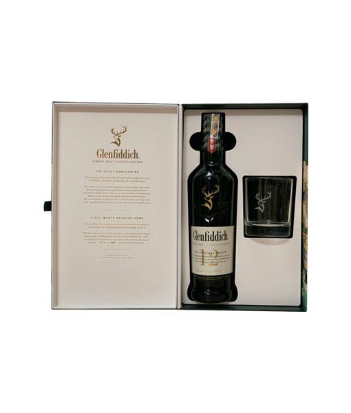 Bên trong hộp rượu Glenfiddich 12 năm hộp quà tết 2021