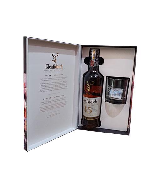 Bên trong hộp rượu Glenfiddich 15 năm hộp quà tết 2021