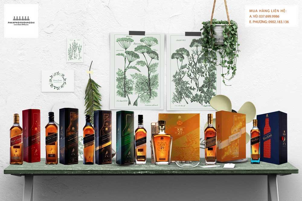 Bộ Sưu tập hộp quà tết 2021 của nhà Johnnie Walker cho thị trường biếu tặng