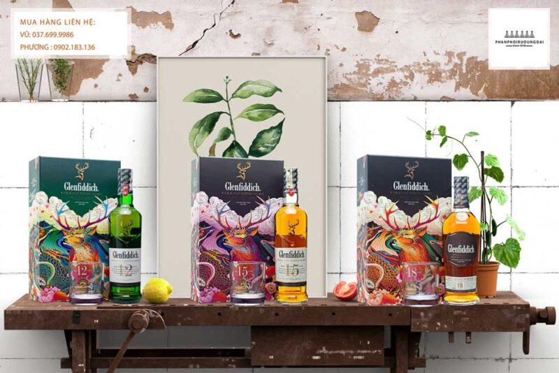 Các loại hộp quà tết của rượu Glenfiddich 2021