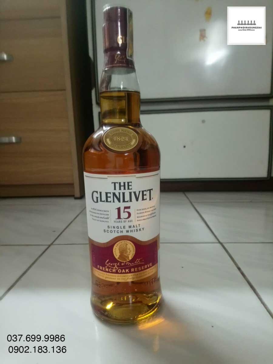 Chai rượu The Glenlivet 15 French Oak Reserve 2021