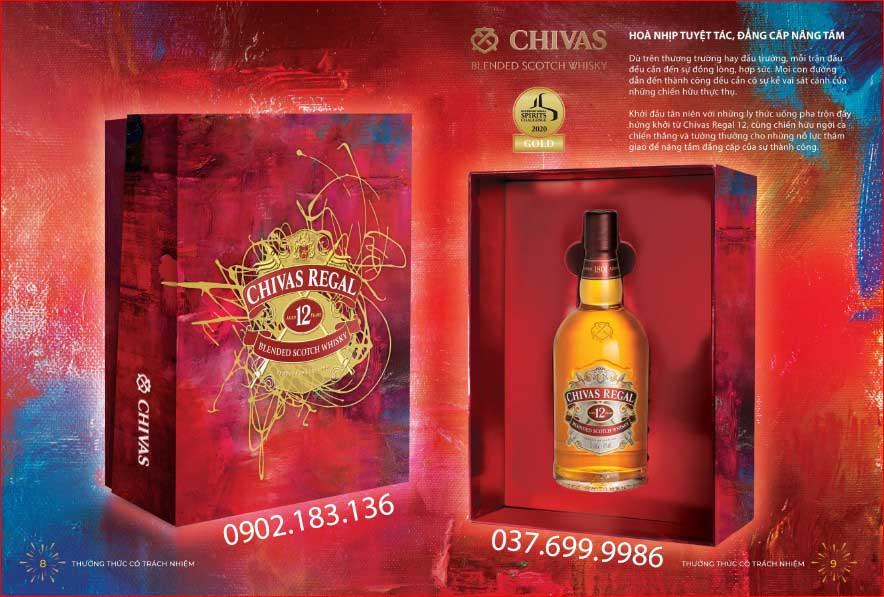 Đẳng cấp nâng tầm với rượu Chivas 12 hộp quà tết 2021