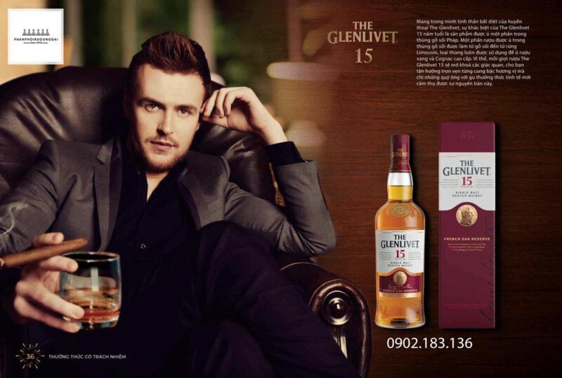Đẳng cấp quý ông với rượu The Glenlivet 15 năm French Oak