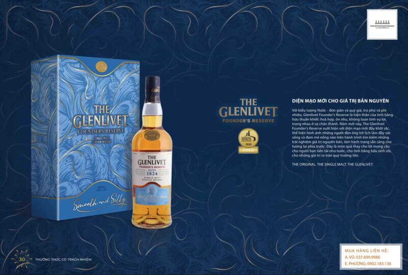 Diện mạo mới cho giá trị bản nguyên của rượu Glenlivet 1824 hộp quà tết 2021