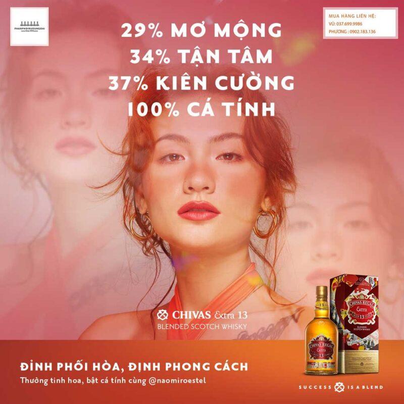 Đỉnh phối hoà định phong cách với rượu Chivas Extra 13 năm Sherry Cask