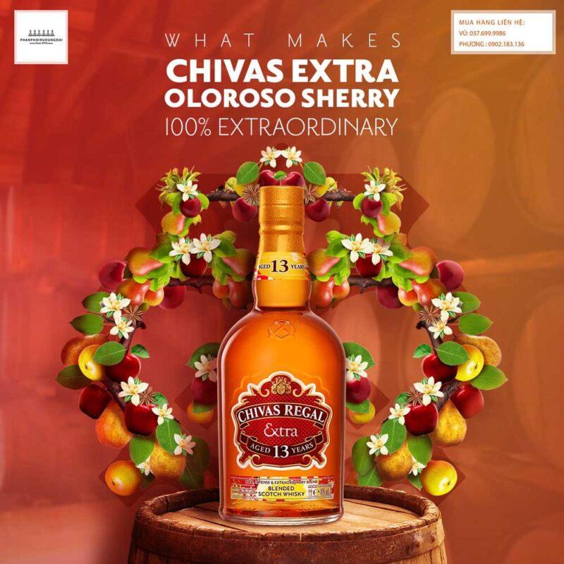 Hương vị tuyệt vời của rượu Chivas Extra Oloroso Sherry cho mùa tết nguyên đán 2021