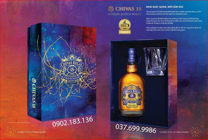 Khai giác quan mở cảm xúc với rượu Chivas 18 hôp quà tết 2021