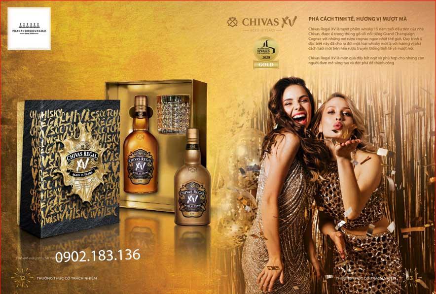 Khám phá hương vị mượt mà của rượu Chivas XV hộp quà tết 2021