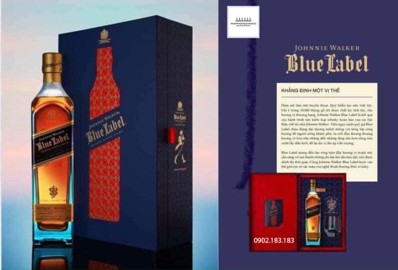 Khẳng định vị thế với rượu Johnnie Walker Blue Label hộp quà tết 2021