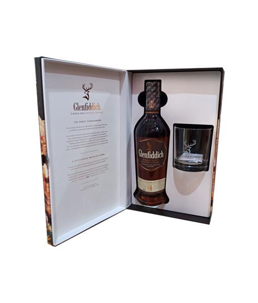 Mở hộp bên trong rượu Glenfiddich 18 năm hộp quà tết 2021