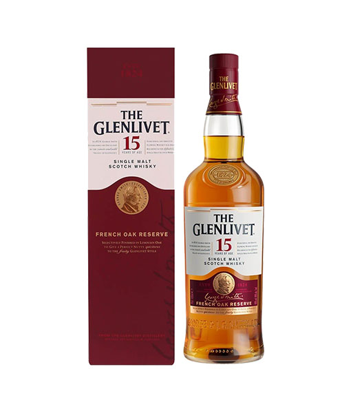 Rượu The Glenlivet 15 năm và hộp giấy