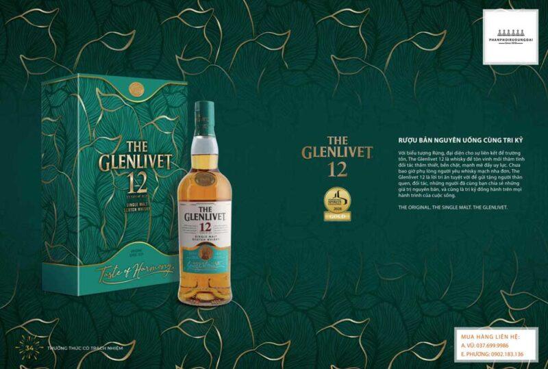 Rượu Nguyên bản uống cùng tri kỷ The Glenlivet 12 năm hộp quà tết 2021