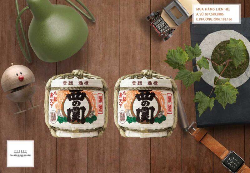 Rượu Sake Nishino Seki Barrel bình cói 1800 ml
