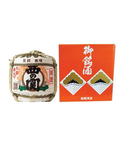 Rượu Sake Nishino Seki Hana Barrel - bình cói 1.8 L và hộp giấy