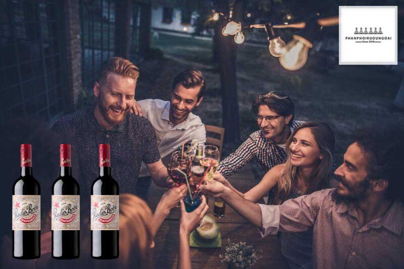 Rượu vang Đỏ Radio Boka Tempranillo cho những người bạn