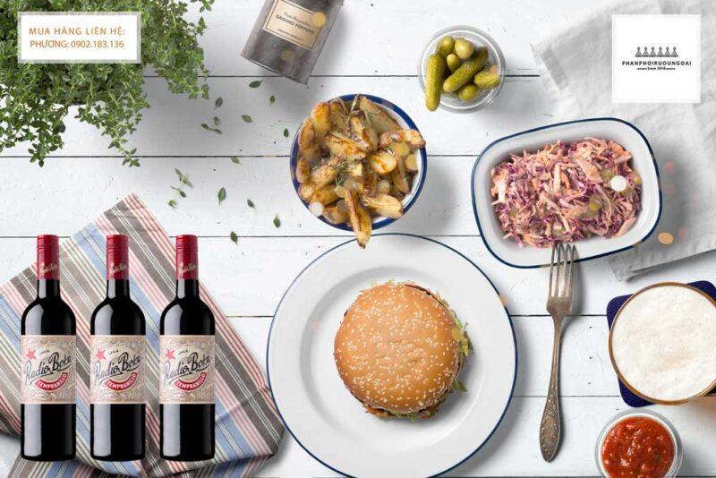 Rượu vang Tây Ban Nha Radio Boka Tempranillo và món ăn