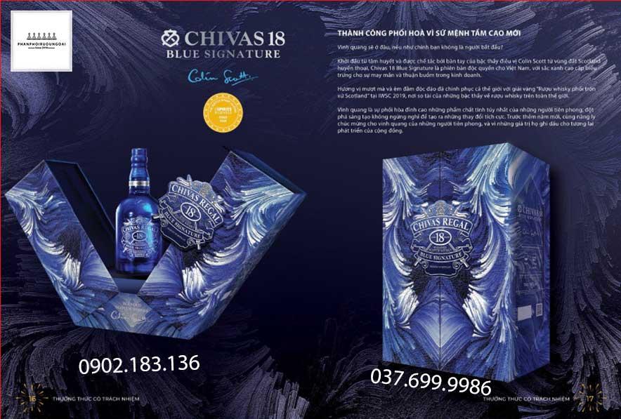 Sứ mệnh trong tầm cao mới với rượu Chivas 18 Blue Signature hộp quà tết 2021