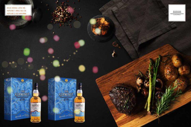 Thưởng thức rượu Glenlivet 1824 Founders Reserve hộp quà tết 2021