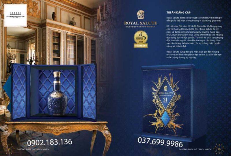Tri ân đẳng cấp cùng rượu Chivas 21 hộp quà tết 2021