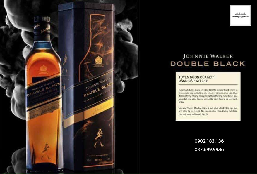 Tuyên ngôn về chất lượng rượu Whisky của rượu Johnnie Walker Double Black Label hộp quà tết 2021
