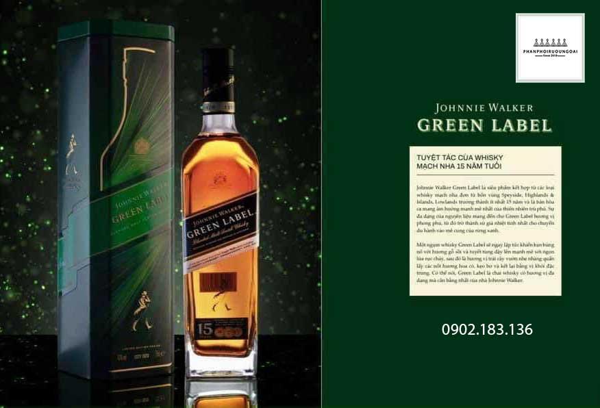 Tuyệt tác rượu Whisky mạch nha 15 năm tuổi Johnnie Walker hộp quà tết 2021