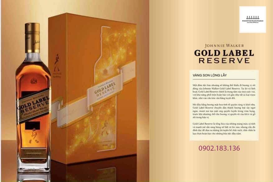 Vàng son lộng lẫy với rượu Johnnie Walker Gold Label Reserve hộp quà tết 2021