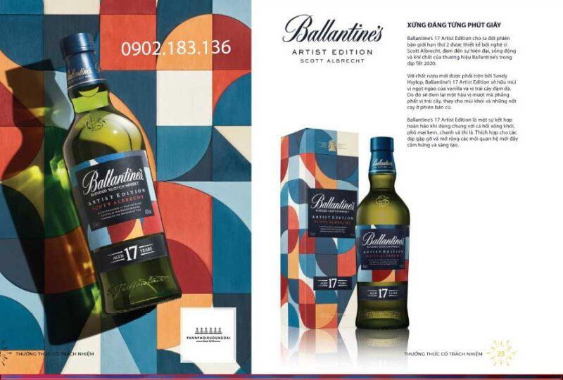 Xứng đáng trong từng phút giây với rượu Ballantine's Artist Edition