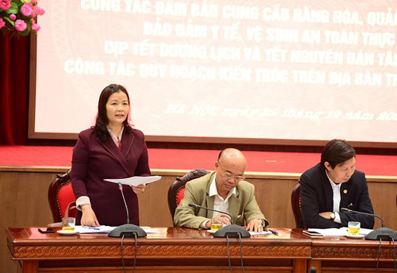 Bà Trần Phương Lan phó giám đốc sở công thương Hà Nội
