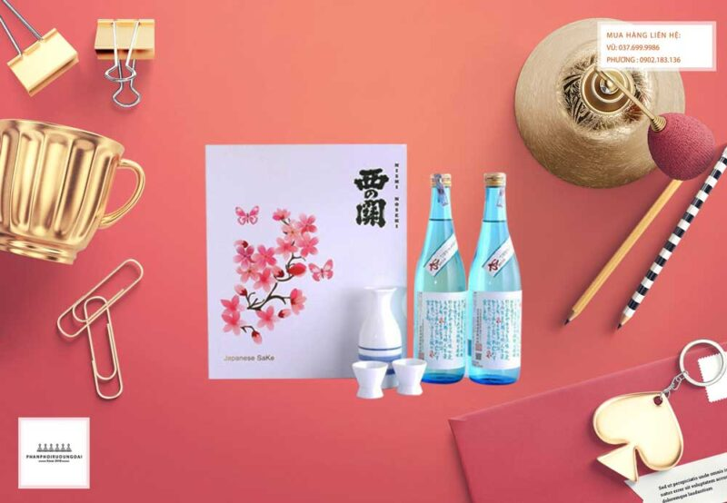 Ảnh Rượu Sake Nishino Seki Hiya 720 ml hộp quà tết 2021