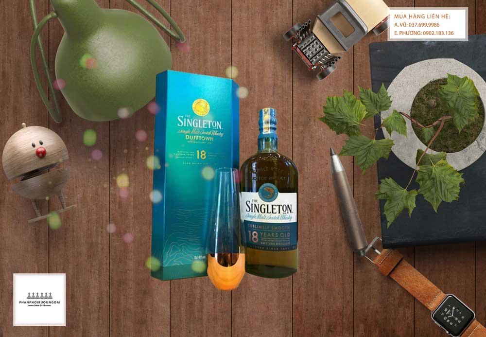 Ảnh Rượu Singleton 18 năm hộp quà tết 2021