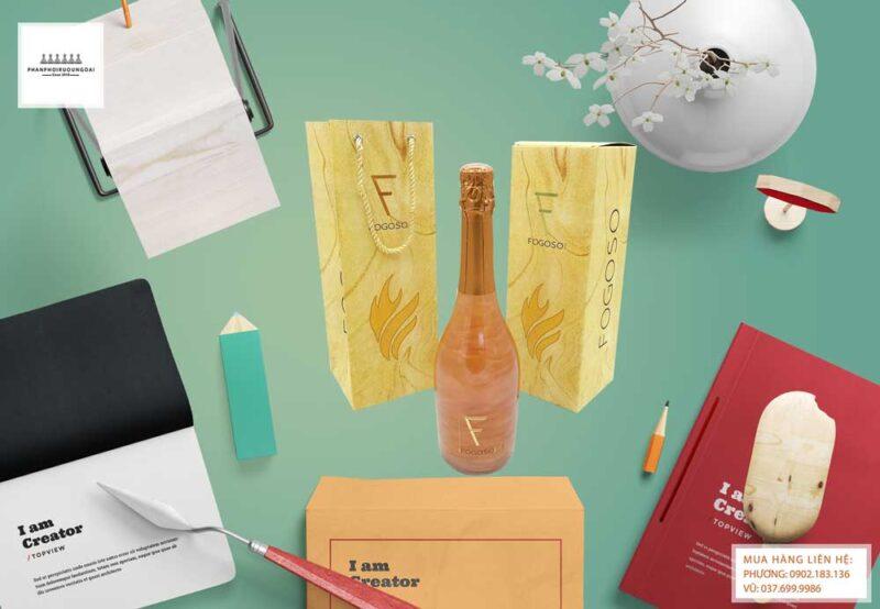 Ảnh Rượu Vang Nổ Fogoso Bronce hộp quà tết 2021