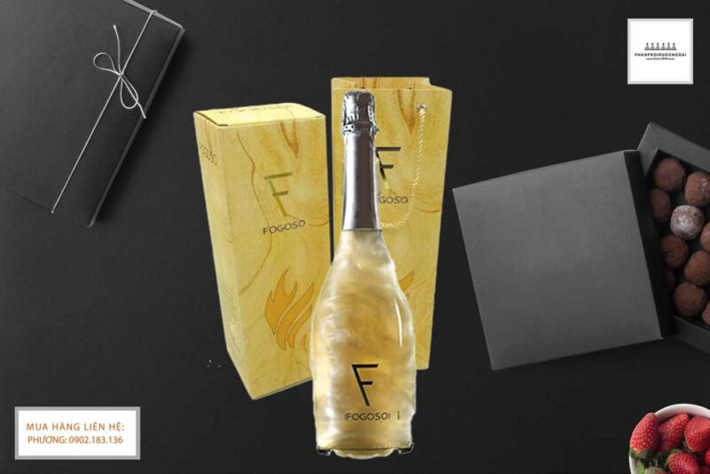 Ảnh Rượu vang Nổ Fogoso Plata hộp quà tết 2021