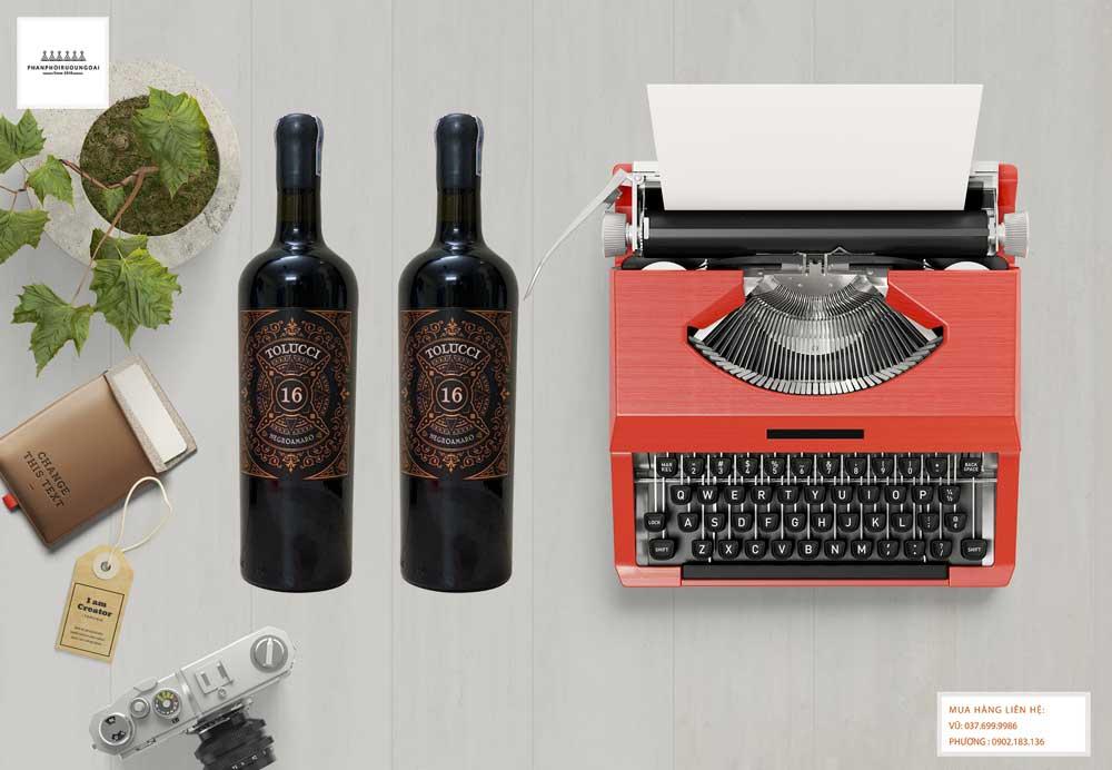 Ảnh chai rượu vang Ý Tolucci Negroamaro Limited